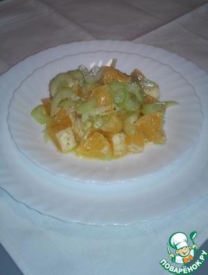 Рецепт Салат из апельсинов и сельдерея по-французски