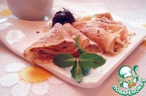Рецепт Блинчики с соусом из чернослива