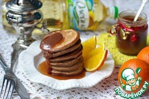 Рецепт Шоколадные оладьи с шоколадным сиропом