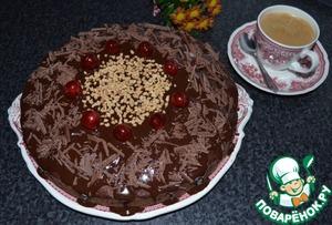 Рецепт Шоколадный пирог с грушами и амаретто