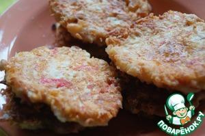 Готовим вкусный рецепт приготовления с фотографиями Оладьи из крабовых палочек и сыра