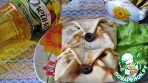 Рецепт Блинчики с тунцом и маслинами