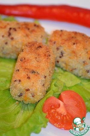 Рецепт Мини крокеты из риса с курицей и овощими