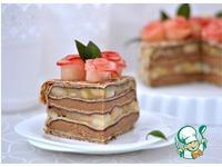 Блинный торт с карамельным муссом и фруктами ингредиенты