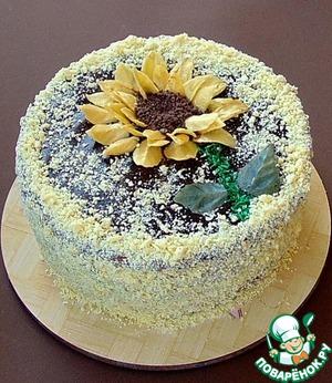 Рецепт Кофейно-блинный торт