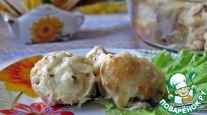 Рецепт Блинчики с мясом под сырной корочкой