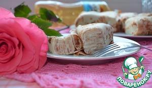 Рецепт Блинный порционный торт со сметанным кремом