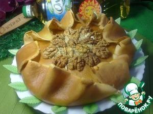 Рецепт Блинный пирог с творожно-ореховой начинкой