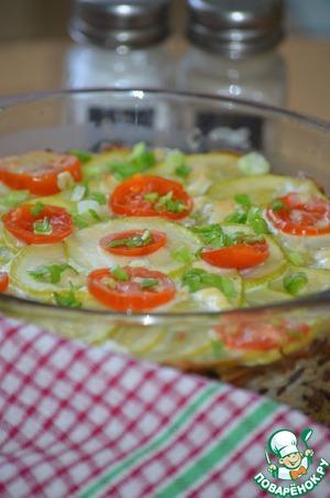 Рецепт Запеканка из кабачков с рисом и грибами