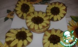 Рецепт Оладушки с кремом и овсяными козинаками