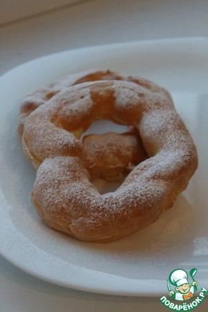 Рецепт Заварные кольца с апельсиновым кремом