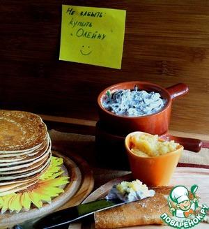 Рецепт Картофельные блинчики с дипом из рикотты