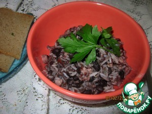 Рецепт Рис с фасолью и беконом