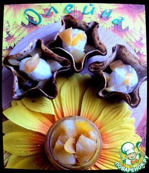 Рецепт Корзиночки с мороженым и фруктами