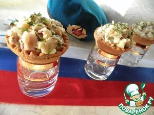 Тарталетки с селёдочкой простой рецепт приготовления с фото готовим