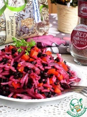 Рецепт Рисовый салат с киноа и свеклой