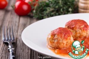 """Рецепт """"Ежики"""" в томатно-яблочном соусе"""