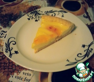 Рецепт Творожно-лимонный пирог из песочного теста