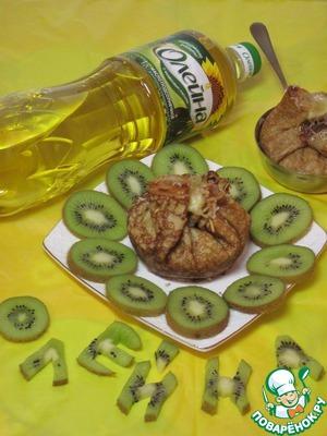 Рецепт Блинные мешочки с фруктовоягодной начинкой