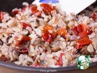 Скумбрия с рисом, грибами и вялеными томатами ингредиенты