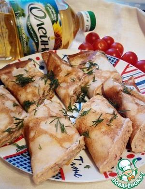 Рецепт Блинчики с муссом из тунца