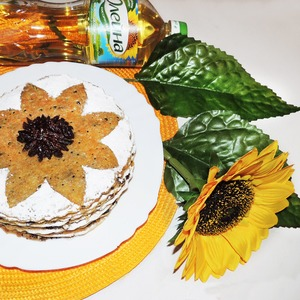 Рецепт Блинный маковый пирог