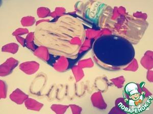 """Рецепт Блины-сердце """"Для любимого"""" с ягодами"""