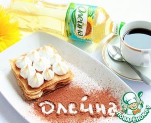 Рецепт Блинное пирожное с фруктовой начинкой и меренгой