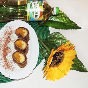 Рецепт Десертные блинные роллы
