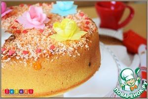 Рецепт Кокосовый кекс в мультиварке