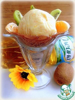 """Рецепт Блинчики с апельсиновым мороженым """"Олейна"""""""