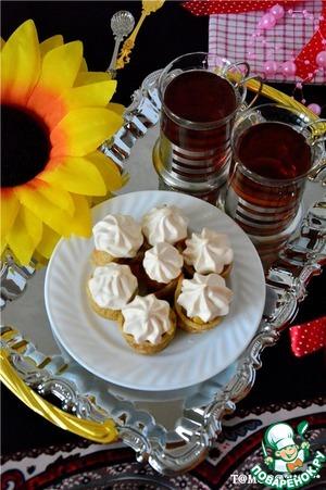 Рецепт Блинчики с карамельными яблоками и безе