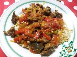 Рецепт Острый овощной гарнир к мясу