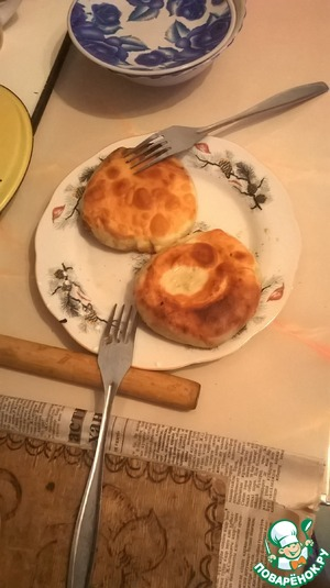 Рецепт Слоеные лепешки с луком
