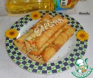 Рецепт Блины с морковью и яйцом