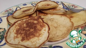 Рецепт Оладушки на сгущенке (по желанию с фруктами)