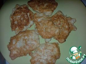 Рецепт Куриные оладушки нежные
