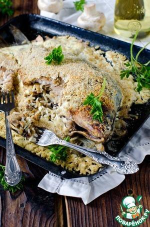Рецепт Карп, фаршированный рисом и запеченный в сметане