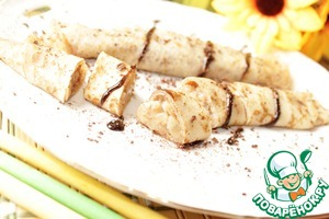 Рецепт Блинчики с шоколадно-грушевой начинкой