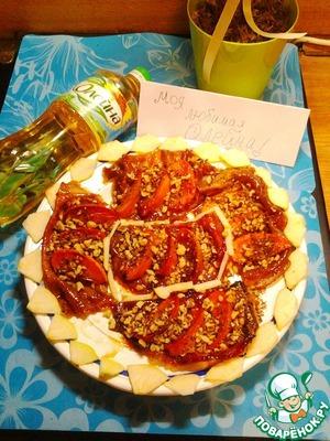 Рецепт Блинный тарт-татен с хурмой и орехами
