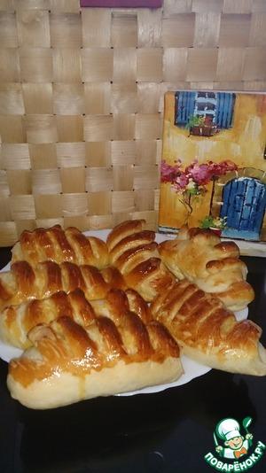 Рецепт Булочки Французские с кремом