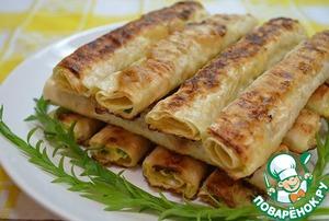 Рецепт Жареные трубочки из лаваша с сырной начинкой