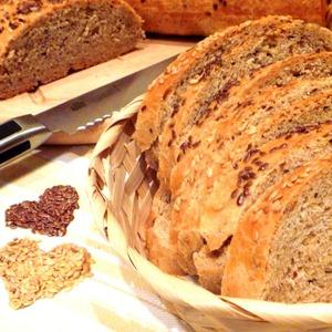 Рецепт Батон пшеничный c отрубями и льняным семенем