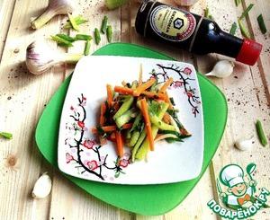 Как приготовить Салат с огурцами по-корейски домашний рецепт с фото пошагово