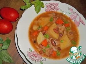 """Рецепт Суп овощной """"Вкусный"""""""