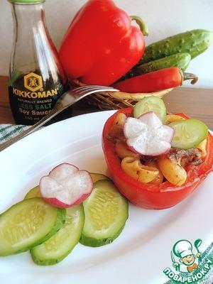 Рецепт Перцы, фаршированные макаронно-грибной начинкой