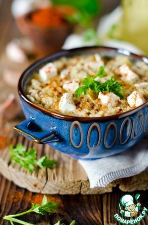 Рецепт Густой суп с киноа и сыром фета
