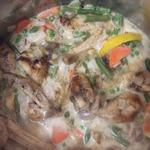Куриные крылья в сливочно-овощной подливе