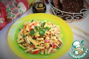 Рецепт Овощной салат с кабачками