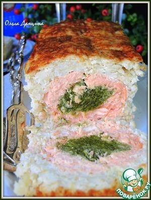 Рецепт Рыбно-рисовый рулет со шпинатом